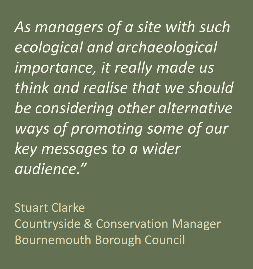 Stuart Clarke, Countryside and Conservation Manager Bournemonth Borough Council